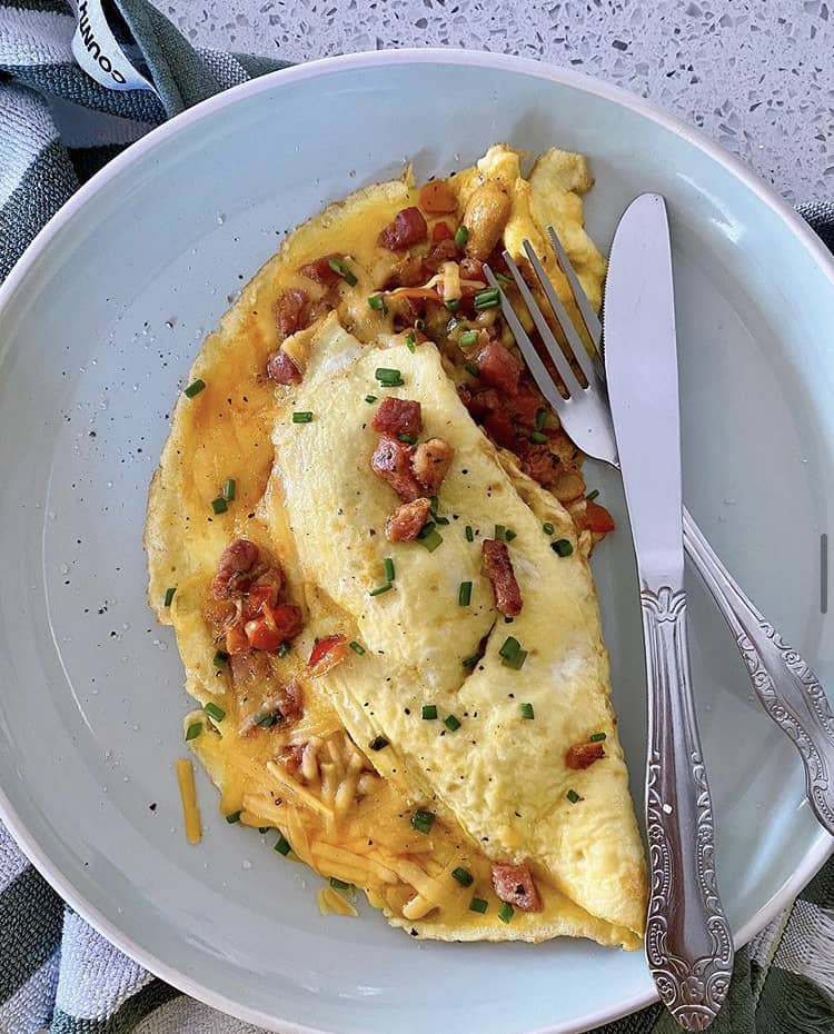 The best omelette is made with the best omelette stainless steel pan.
