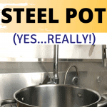 How to clean a stainless steel pot.
