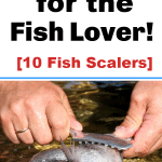 Hands scaling a fish using the best fish scaler!